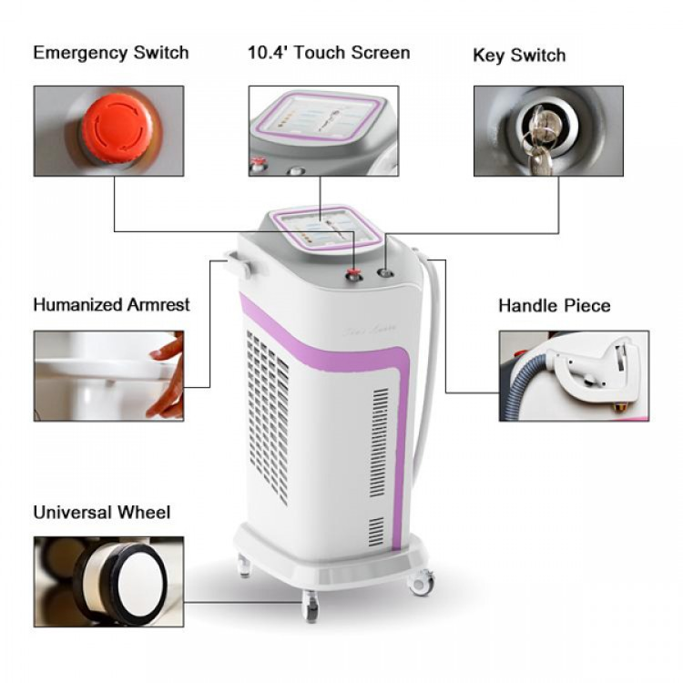 808nm 600w diode laser hair removal machine