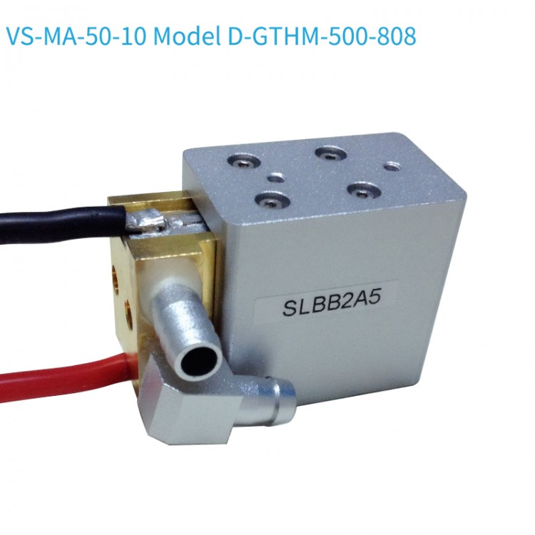 VS-MA-50-10 Model D-GTHM-500-808 10bars macro laser module water connectors are on the side